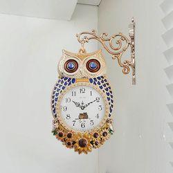 데일리데코 투투나 부엉이 양면 벽시계