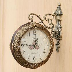 미하우스 장미 양면 시계