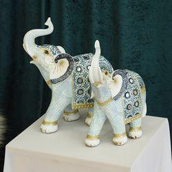 데일리데코 레유 코끼리 커플 인테리어 소품