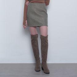 W21 solid wool mini skirt khaki