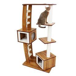 아이리스 4단 캣타워 스크래처 고양이 하우스 QQ81036
