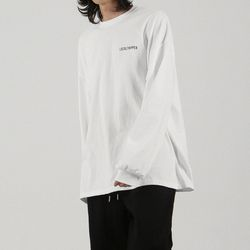 LOOSE OVER 티셔츠 화이트 (남녀공용)