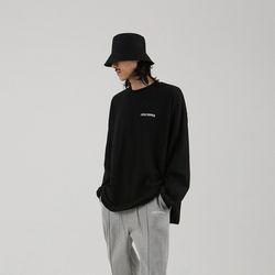 LOOSE OVER 티셔츠 블랙 (남녀공용)
