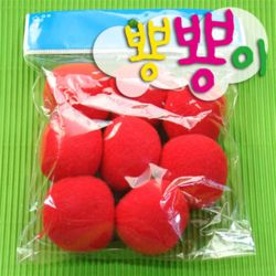 단색뿅뿅이 40파이 약7개입/솜방울/칼라솜/장식솜