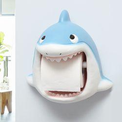 상어 캐릭터 욕실 화장실 휴지걸이 두루마리걸이