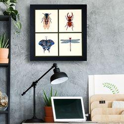 [패브릭피쉬] 액자  곤충시리즈 R4 50x50