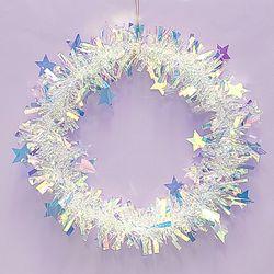 크리스마스 홀로그램 모루 장식 (별)