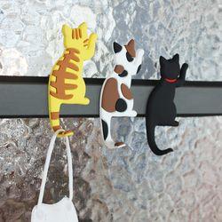 고양이 자석 마스크걸이 냉장고 대문 마그넷 후크