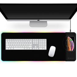 LED 무선 고속 충전 마우스 장패드 WPL30