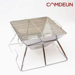 [캠든] 그릴 캠핑화로 바베큐 접이식 야외 폴딩 (증)