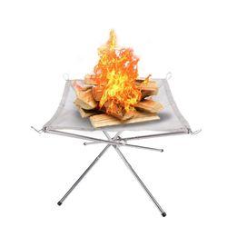 [캠든] 그릴 캠핑화로 바베큐 접이식 야외 메쉬