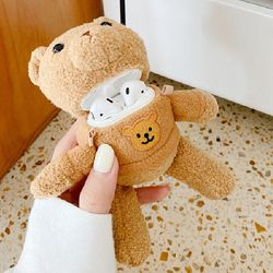 곰돌이 옷입은 곰돌이인형 에어팟케이스