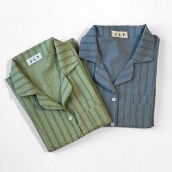 파스텔 스트라이프 잠옷 파자마세트