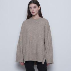 W15 wool over knit beige