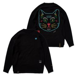 CAT OVERSIZED KNIT SWEATER BLACK