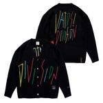 RAINBOW OVERSIZED KNIT CARDIGAN BLACK