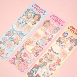 afrocat pearly sticker paper doll mate