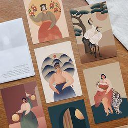 [istyle]Korean Minhwa Postcard Set-by.온바림