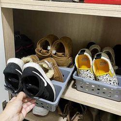 [1+1] 칸칸이 정리함 실내화 신발장 정리대 수납장