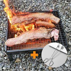 불멍화로대 미니 바베큐그릴 캠핑 필수용품 숯집게포함 (소형)