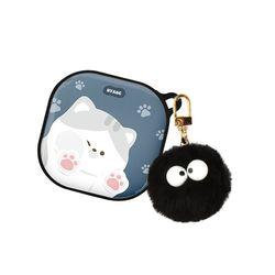 고양이 냥이 에폭시 하드 갤럭시 버즈 라이브 케이스+키링세트