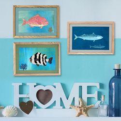 [패브릭피쉬] 액자 바다물고기 시리즈 A4  21x30 3종
