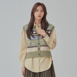 볼륨소매 포인트 셔츠 MIWYWB112C