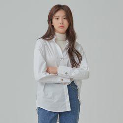 단추 포인트 오버핏 셔츠 MIWYWB211B