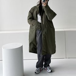 Hood Oversized Long Millitary Jumper - 8온스