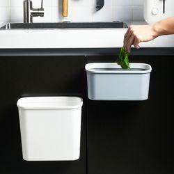 화장실 벽부착 대형 수납함 휴지통 (중형)