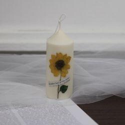 7월 탄생화향초 캔들 해바라기향초 기념일선물 생일선물