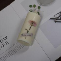 8월 탄생화향초 캔들 수레국화향초 기념일선물 생일선물