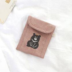 반달가슴곰 핑크 카드파우치