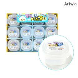 500 멜팅 투명 치즈 젤리 슬라임 BOX(24)
