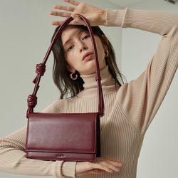 brick rope bag  burgundy