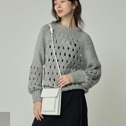 mini rope bag  white