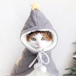 별마법사 겨울 수면 잠옷 망토 고양이 강아지 옷 모자 MIYOPET