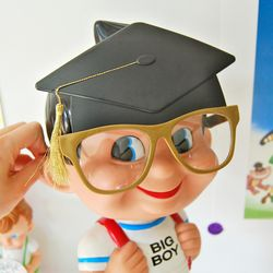 학사모 졸업 안경