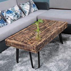 빈티지 소나무 원목 거실 좌식 테이블