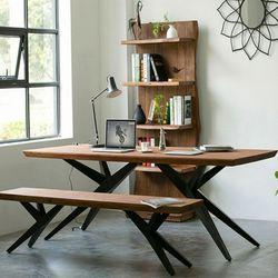 우드슬랩 원목 카페 테이블 파인트리 테이블 세트