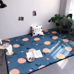 [아이니샵] 벨벳 극세사 사각 카펫 거실 매트 러그