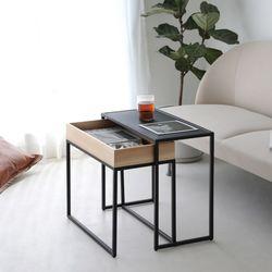 트윈형 북유럽풍 사이드 테이블 미니 티 테이블