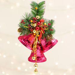크리스마스 3 하프 종 벨 메탈릭레드 옐로우 전구