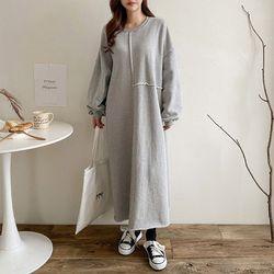 Gimo Over Long Dress- 기모안감