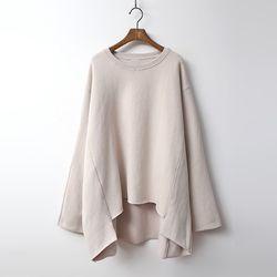Gimo Twin Over Unbal Sweatshirt - 기모안감