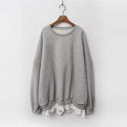 Gimo Twin Over Tee Sweatshirt - 기모안감