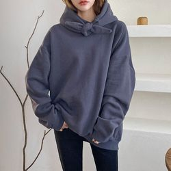 Gimo Twin Hood Over Sweatshirt - 기모안감
