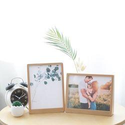 웨딩 가족 연인사진 우드프레임 8x6 스탠드 원목 액자