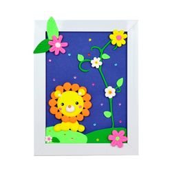 [adico]DIY 클레이액자 꽃밭의 사자