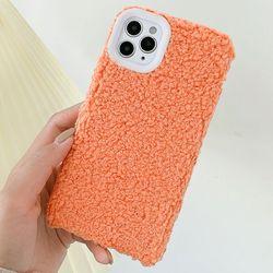 아이폰SE2 몽글몽글 심플 포근 양모 젤리 케이스 P213